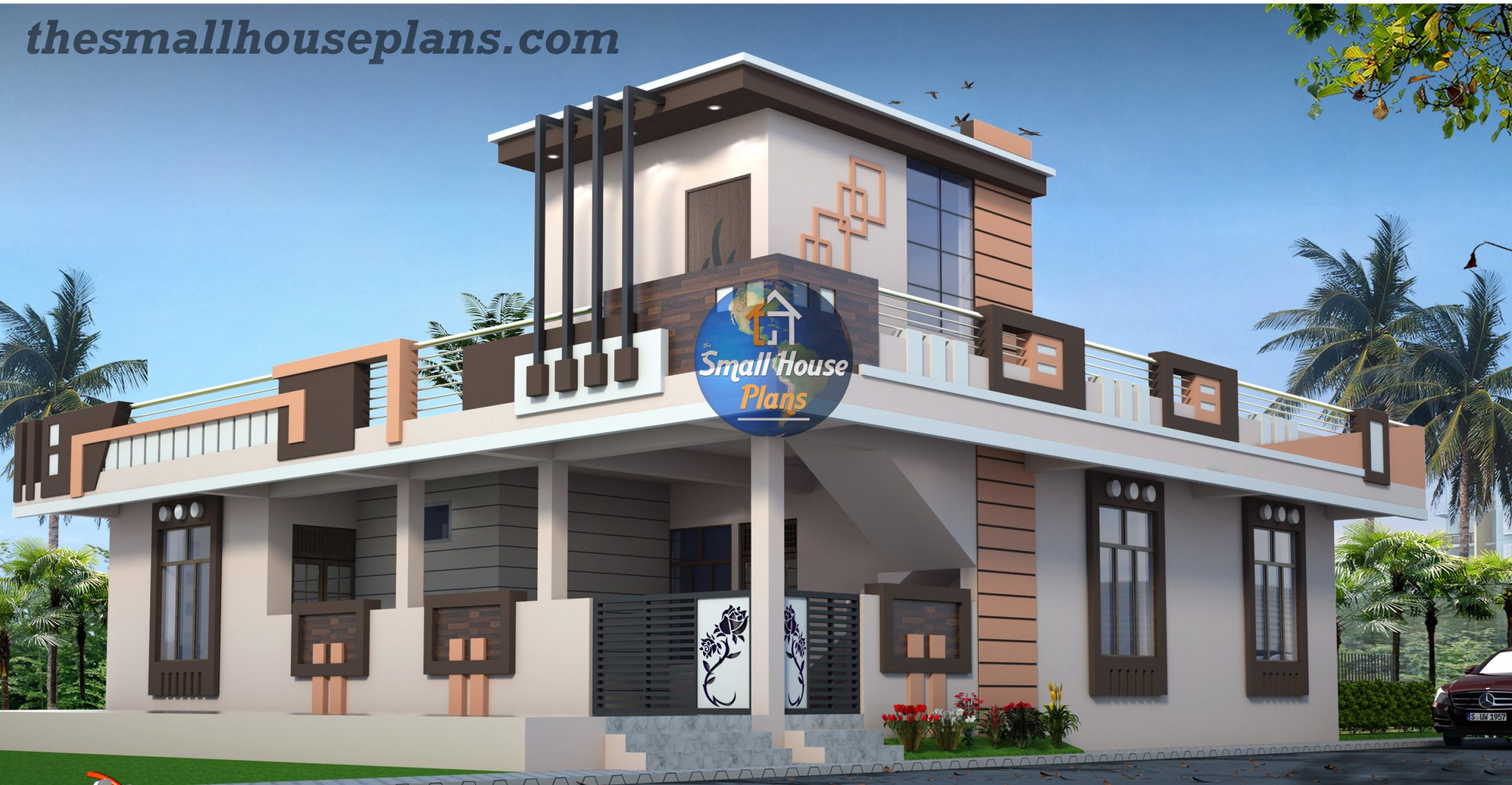 small house front elevation design
