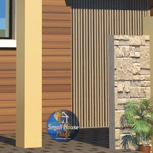 outer boundary wall design for home