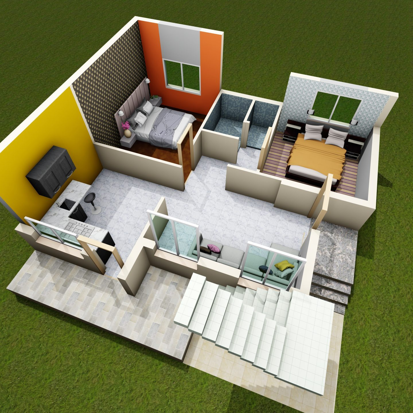30 by 30 house plan
