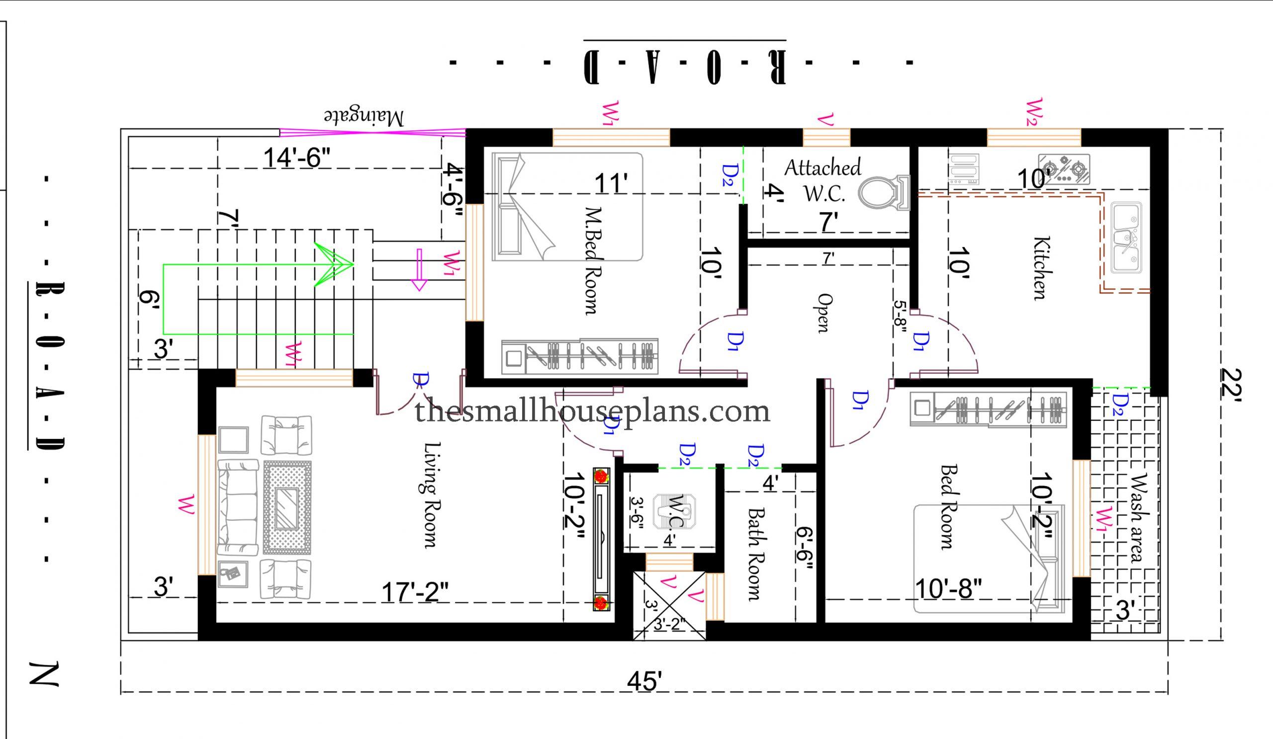 north facing house vastu plan
