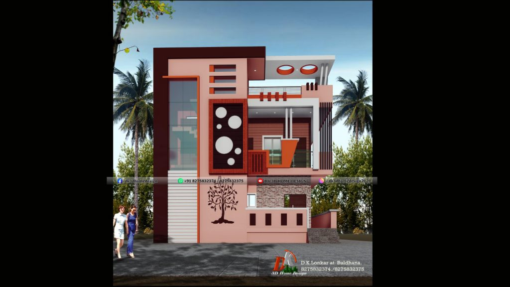 front design of small house village