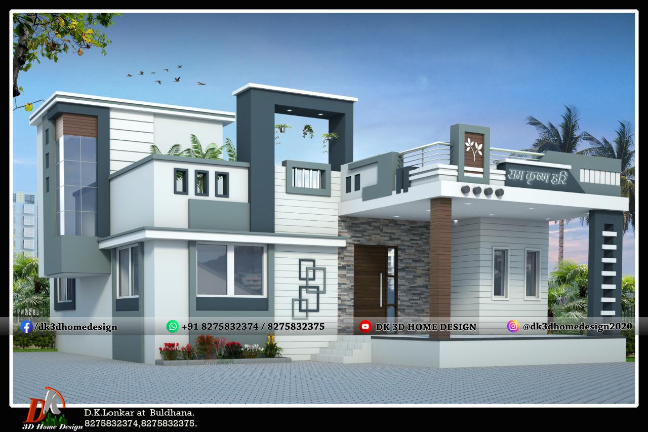 single floor house elevation model