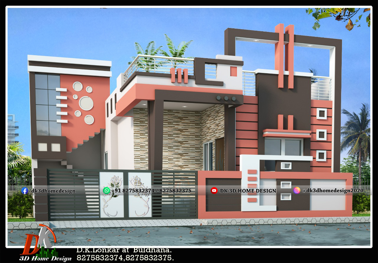 small house front design indian style