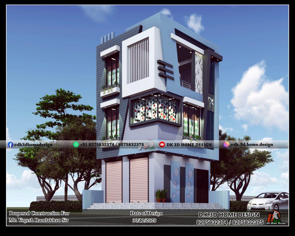 shop attached house design