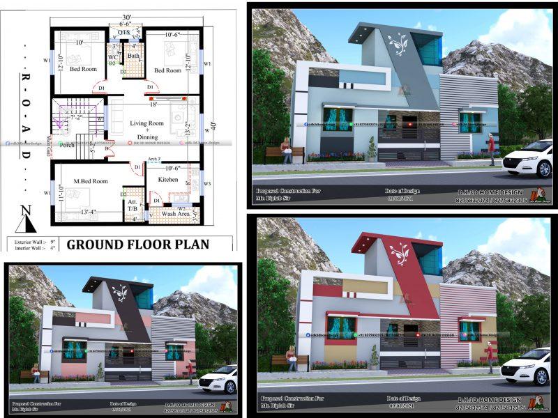 1200 sq ft house plan design