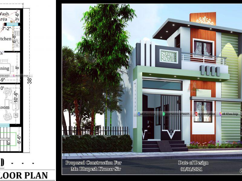 20x40 house plan design